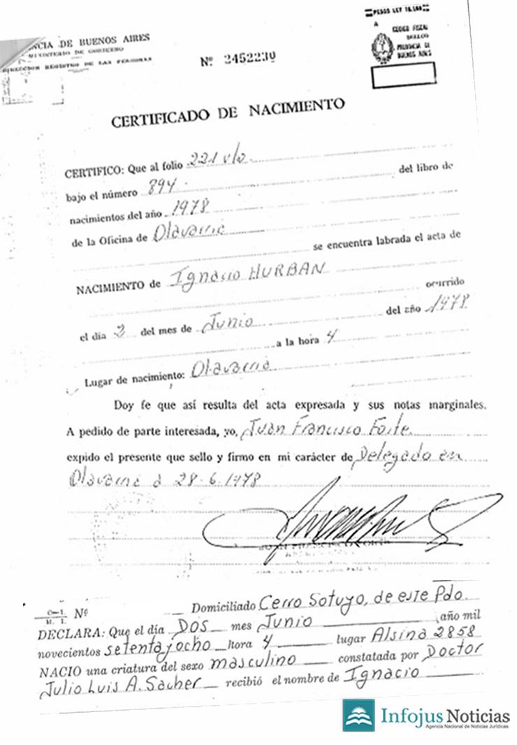 Certificado De Matrimonio Catolico : Infojus noticias